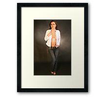 White Jacket Framed Print