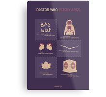 Doctor Who | Story Arcs Metal Print