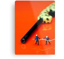 Fire Fighters And Fire Gun Metal Print