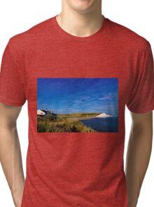 Coastguard cottages at Seven Sisters, England Tri-blend T-Shirt