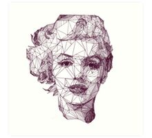 Marilyn Monroe Geometric Design Art Print