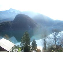 View of Lake Wofgangsee - St Gilgen Austria Photographic Print