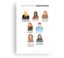 Doctor Who | Companions (alternate version) Metal Print
