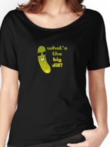 Funny Pickle T-shirt - What's The Big Dill Women's Relaxed Fit T-Shirt