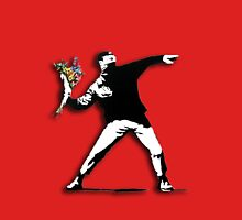 Banksy Anarchist Mens V-Neck T-Shirt