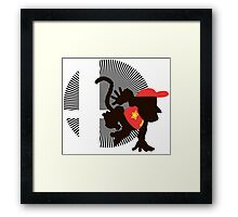 Diddy Kong - Sunset Shores Framed Print