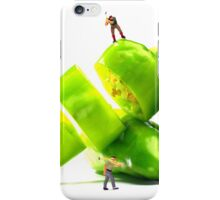 Chopping Green Peppers iPhone Case/Skin
