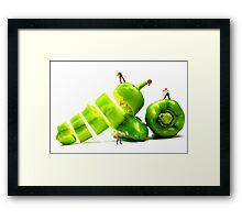 Chopping Green Peppers Framed Print