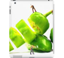 Chopping Green Peppers iPad Case/Skin