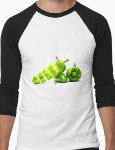 Chopping Green Peppers Men's Baseball ¾ T-Shirt