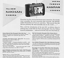 Pakistani Nikhan Digital Cameras of 1955 by Kenny Irwin