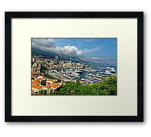 View of Monaco Bay Framed Print
