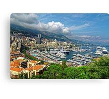 View of Monaco Bay Canvas Print
