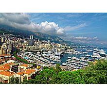 View of Monaco Bay Photographic Print