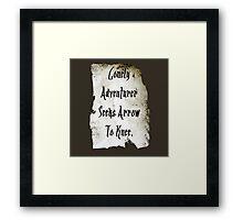 Lonely Adventurer Framed Print