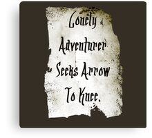 Lonely Adventurer Canvas Print