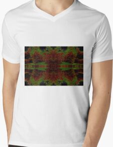 Vivid Burst Mens V-Neck T-Shirt