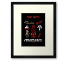 True Blood Logos Framed Print
