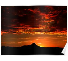 Sunset on Thumb Butte Poster