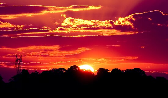 Sunset at Maleny, Sunshine Coast Hinterland by Elana Bailey