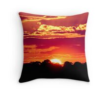Sunset at Maleny, Sunshine Coast Hinterland Throw Pillow