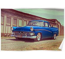 Blue Ford Mainline Poster