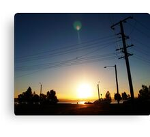Sunset Intersection Canvas Print