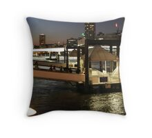 Brisbane CIty Cat - Southbank Throw Pillow