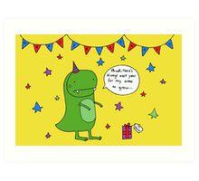 Dinosaur Dave's Birthday Art Print