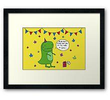 Dinosaur Dave's Birthday Framed Print