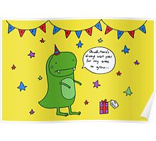 Dinosaur Dave's Birthday Poster