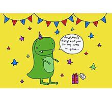Dinosaur Dave's Birthday Photographic Print