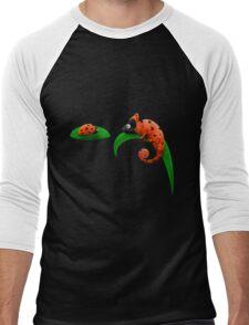 Ladybug and Chameleon Men's Baseball ¾ T-Shirt