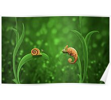 Snail and Chameleon Poster