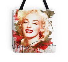 Marilyn Monroe watercolor signature Tote Bag