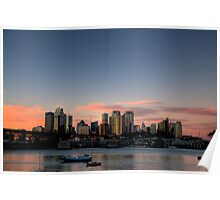 Sky - Moods Of A City # 9 - The HDR Series - Sydney Harbour, Sydney Australia Poster