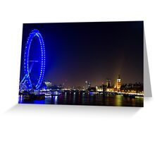 London Eye and the Houses of Parliament, England Greeting Card