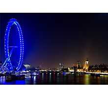 London Eye and the Houses of Parliament, England Photographic Print