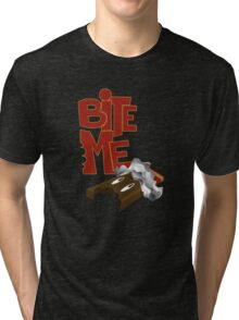 Bite Me - Chocolate Bar (2) Tri-blend T-Shirt