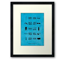 Wentworth Characters Framed Print