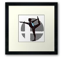 Wii Fit Trainer (Male) - Sunset Shores Framed Print