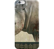 orphaned, baby rhino poster iPhone Case/Skin