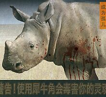 orphaned, baby rhino poster by R Christopher  Vest