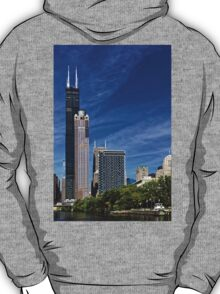 A Chicago river cruise view towards  the Willis Tower T-Shirt