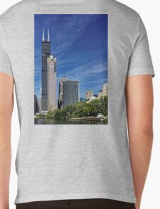A Chicago river cruise view towards  the Willis Tower Mens V-Neck T-Shirt