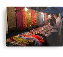 Night Market - Pashmina Metal Print