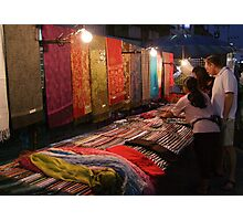 Night Market - Pashmina Photographic Print