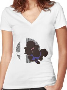 Ice Climbers - Sunset Shores Women's Fitted V-Neck T-Shirt