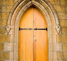 St Johns church door, Richmond, Tasmania by Elana Bailey