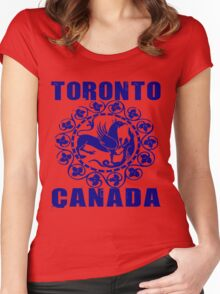 TORONTO, CANADA Women's Fitted Scoop T-Shirt